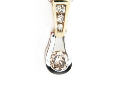 Contemporary diamond pendant.