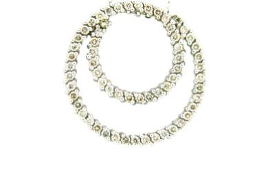 Diamond circle pendant.