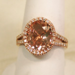 Morganite ring in rose gold.