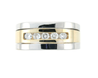 mens_diamond_wedding_band_yellow_and_white_gold