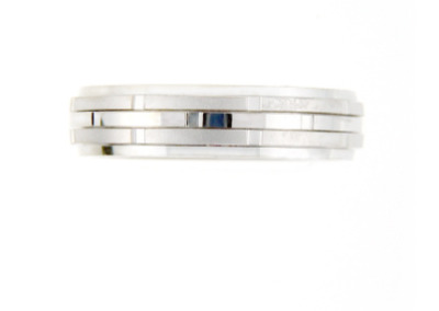 Men's white gold wedding band.