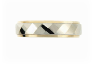 Men's yellow and white gold wedding band.