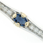 Sapphire and diamond bracelet in white gold.